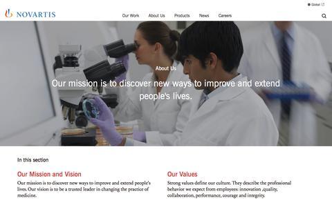 Screenshot of About Page novartis.com.au - About Us   Novartis Australia - captured May 19, 2017