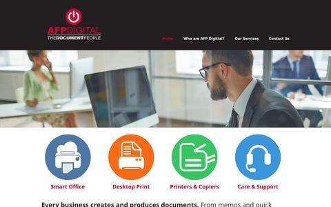 Screenshot of Home Page afpdigital.co.uk - Document Management – Managed Print | AFP Digital - captured Dec. 22, 2015