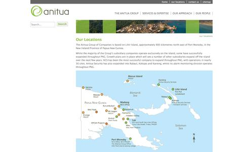 Screenshot of Locations Page anitua.com.au - Anitua - our locations - captured Oct. 4, 2014