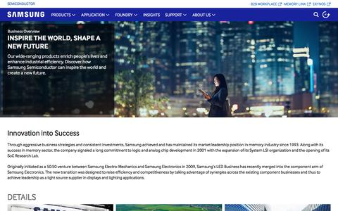 Screenshot of About Page samsung.com - Business Overview   Samsung Semiconductor Global - captured July 4, 2016