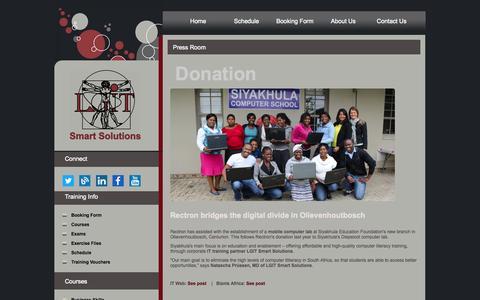 Screenshot of Press Page lgit.co.za - Press Room - captured Oct. 1, 2014