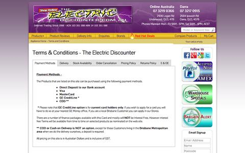Screenshot of Terms Page theelectricdiscounter.com.au - Terms & Conditions | The Electric Discounter - captured June 27, 2017