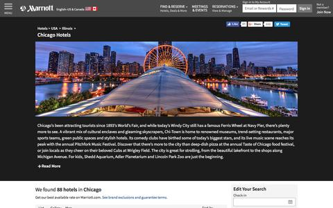 Find Chicago Hotels by Marriott