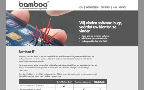 Screenshot of Home Page bamboo-it.nl - Bamboo-IT - captured Sept. 30, 2014