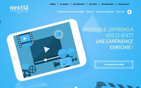 Screenshot of Home Page nextia.fr - Nextia, agence de communication digitale sur Aix-en-Provence, Marseille et Paris - captured July 10, 2017