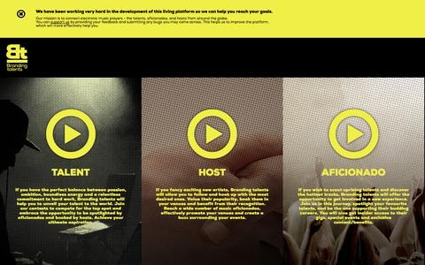 Screenshot of Home Page brandingtalents.com - Branding talents - captured Sept. 19, 2014