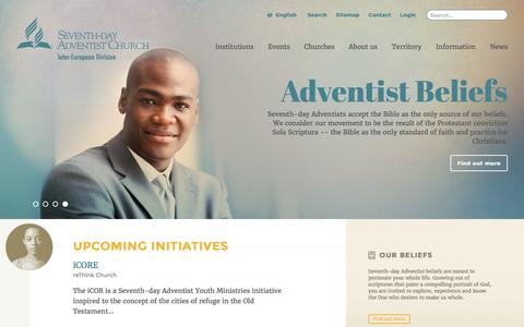 Screenshot of Menu Page adventist.org - The Official Site of the Seventh-day Adventist Inter-European Division - captured June 24, 2016