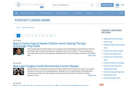 Screenshot of Press Page contactlenses.de - Contact Lenses News :: Buy Cheap Contact lenses in Germany - captured Oct. 29, 2018
