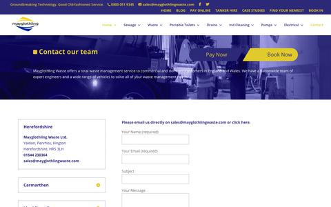 Screenshot of Contact Page mayglothlingwaste.com - Contact - Mayglothling Waste | Waste Management Contractor Hereford - captured Oct. 17, 2017