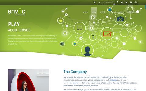 Screenshot of Jobs Page envoc.com - About Envoc   Envoc - captured Jan. 13, 2018