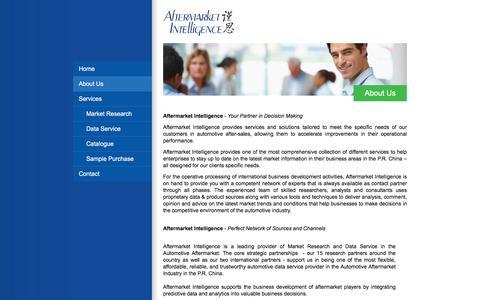 Screenshot of About Page afmkt.com - About Us - Aftermarket Intelligence - captured Feb. 5, 2016