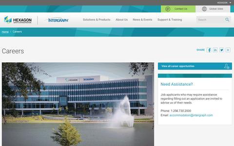 Screenshot of Jobs Page hexagonsafetyinfrastructure.com - Careers - Hexagon Safety & Infrastructure - captured June 28, 2016
