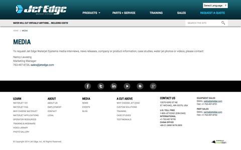 Screenshot of Press Page jetedge.com - Media | Jet Edge - captured Nov. 3, 2014