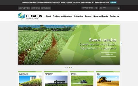 Screenshot of Home Page hexagonagriculture.com - Hexagon Agriculture | Precision Agriculture - captured Nov. 21, 2016