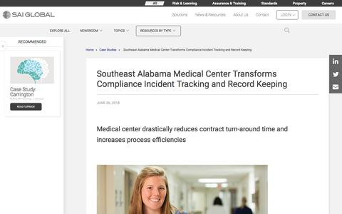 Screenshot of Case Studies Page saiglobal.com - Southeast Alabama Medical Center Transitions to Automated Workflow - captured Dec. 12, 2019