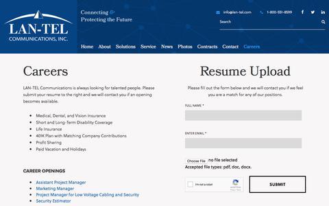 LAN-TEL Communications Inc.   Latest Career Opportunities