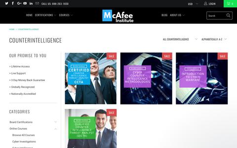 Counterintelligence - McAfee Institute