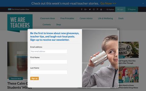Screenshot of Home Page weareteachers.com - WeAreTeachers   Ideas, Inspiration, and Giveaways for Teachers - WeAreTeachers - captured Sept. 30, 2018