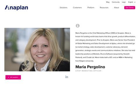 Maria Pergolino | Anaplan