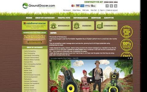 Screenshot of Press Page groundgrocer.com - News - captured Sept. 23, 2014