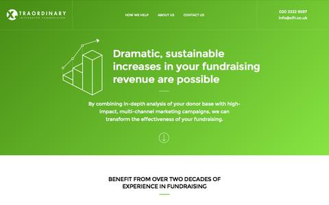 Screenshot of Home Page xifr.co.uk - Xtraordinary Integrated Fundraising - captured Aug. 16, 2015