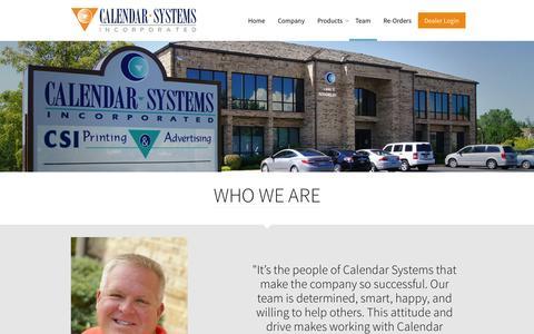 Screenshot of Team Page calendarsystems.com - Calendar Systems Inc - Our Team - captured Oct. 1, 2014