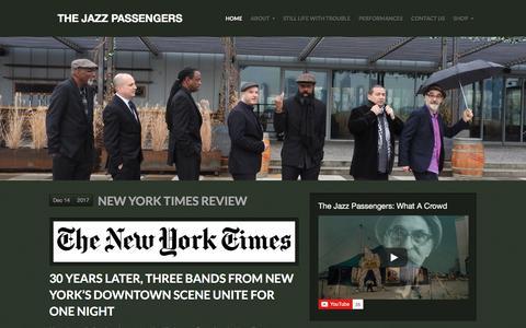Screenshot of Home Page jazzpassengers.com captured Feb. 26, 2018