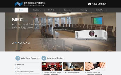 Screenshot of Home Page avsystems.com.au - Audio Visual Installation, Audio Visual Systems - captured Nov. 19, 2016