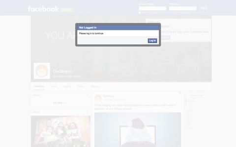 Screenshot of Facebook Page facebook.com - Outbrain - captured Nov. 17, 2015
