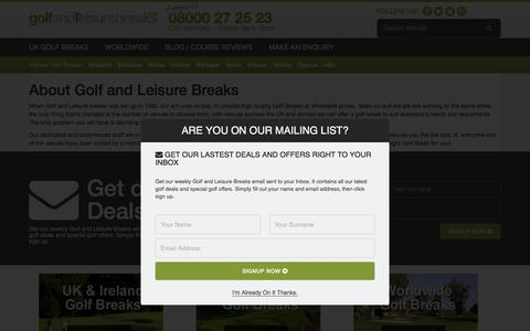 Screenshot of About Page golfandleisurebreaks.co.uk - About Golf and Leisure Breaks - captured June 29, 2018