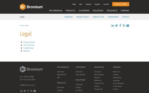 Legal | Bromium