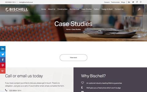 Screenshot of Case Studies Page bischell.co.uk - Case Studies: London Building, Construction & New Builds - captured July 27, 2016
