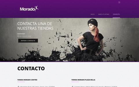 Screenshot of Contact Page morado.mx - Morado  | CONTACTO - captured Oct. 26, 2014