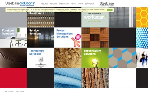 Screenshot of Services Page steelcase-solutions.co.uk - Services | Steelcase Solutions - captured Oct. 1, 2014