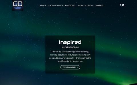 Screenshot of Home Page gasmandesign.com - Web Design Minneapolis, Web Development: Gasman Design - captured Sept. 25, 2018