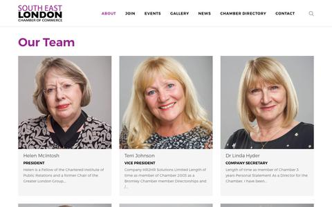 Screenshot of Team Page selondonchamber.org - Our Team – South East London Chamber Of Commerce - captured Oct. 21, 2018