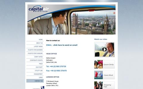 Screenshot of Contact Page capitalairservices.co.uk - Contact Us - captured Oct. 1, 2014