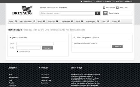 Screenshot of Login Page lojaintegrada.com.br - Bremauto - captured Feb. 8, 2018