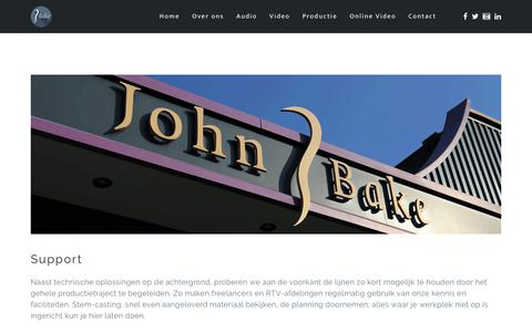 Screenshot of Support Page johnbake.tv - Support - captured Oct. 16, 2017