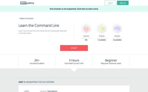 Learn the Command Line | Codecademy