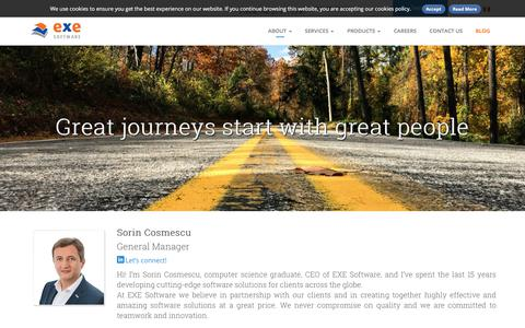 Screenshot of Team Page exesoftware.ro - Our Team | EXE Software Offers Custom Software Development Solutions - captured July 15, 2018
