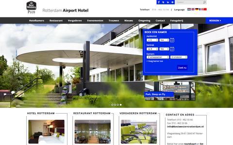 Screenshot of Home Page airporthotelrotterdam.nl - Hotel Rotterdam - Hotel, Restaurant & VergaderlocatieBEST WESTERN PLUS Rotterdam Airport Hotel - captured Feb. 5, 2016