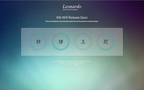 Screenshot of Home Page leonardotravel.com - LEONARDO TRAVEL COMPANY - captured Sept. 29, 2014