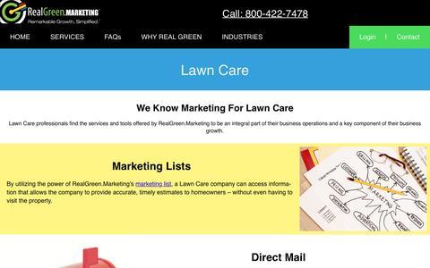 Screenshot of Case Studies Page realgreen.marketing - RealGreen.Marketing  Lawn Care - captured May 2, 2017