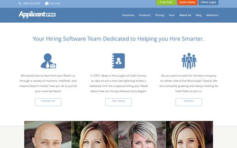 About Our Hiring Software - ApplicantPro