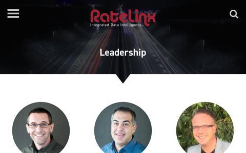 Screenshot of Team Page ratelinx.com - RateLinx Leadership, Supply Chain Management Team - captured Sept. 21, 2018