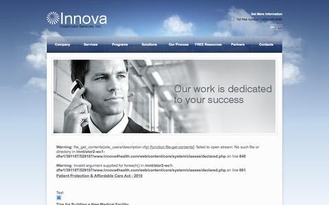 Screenshot of Blog innova4health.com - Blog - Innova - captured Oct. 6, 2014