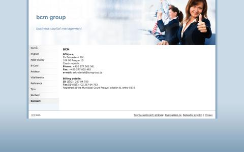 Screenshot of Contact Page bcmgroup.cz - Contact bcm group - captured Feb. 7, 2016