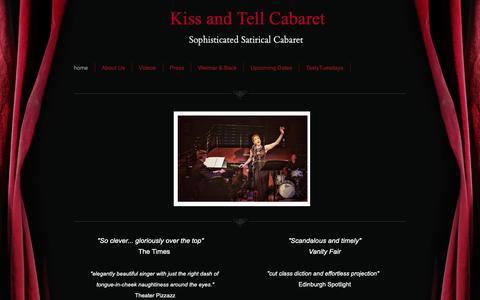 Screenshot of Home Page kissandtellcabaret.com - Kiss and Tell Cabaret - captured Oct. 15, 2018