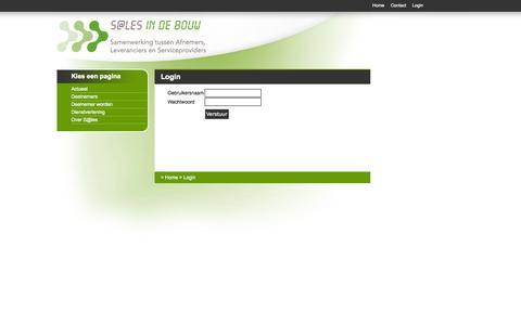 Screenshot of Login Page salesindebouw.nl - Login - captured Oct. 7, 2014